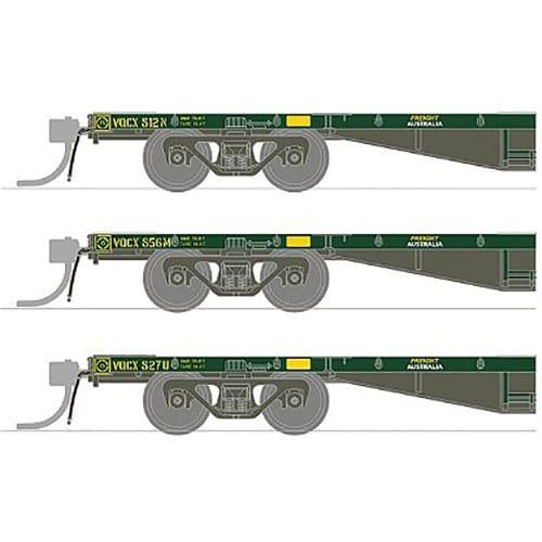 SDS SOUTH AUSTRALIAN RAILWAYS  FQX 63' CONTAINER WAGON