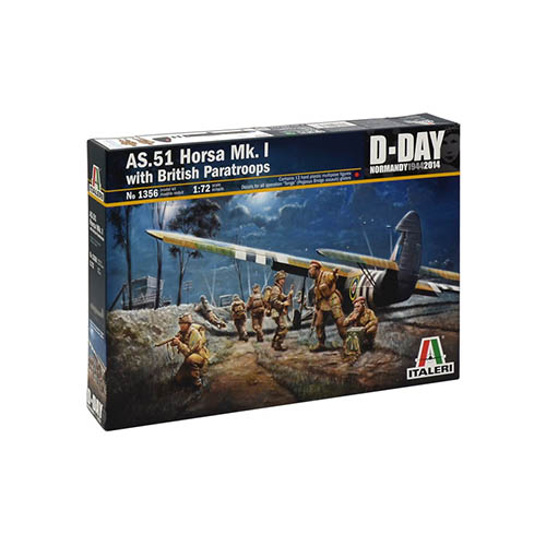 Italeri AS.51 HORSA Mk.I with BRITISH PARATROOPS 1:72 Kit