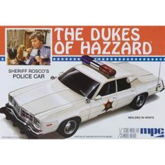 MPC Dukes of Hazzard Sheriff Roscoe's Police Car -- Plastic Model Car Kit -- 1/25 Scale -- #pc707