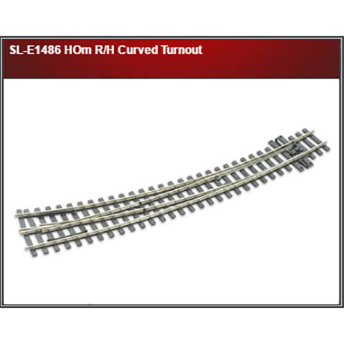Peco SL-E1486 HOm R/H Curved Turnout