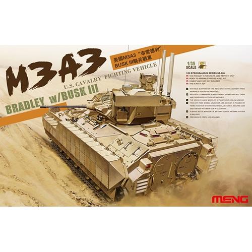 MENG U.S. CAVALRY FIGHTING VEHICLE M3A3 BRADLEY w/BUSK III 1/35