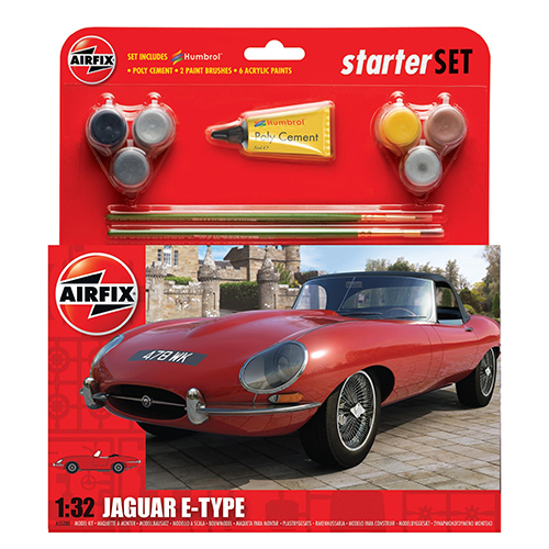 Airfix Jaguar E-Type Starter Set 1:32