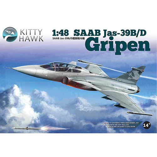 Kittyhawk 1/48 SAAB Jas-39B/D Gripen Kit