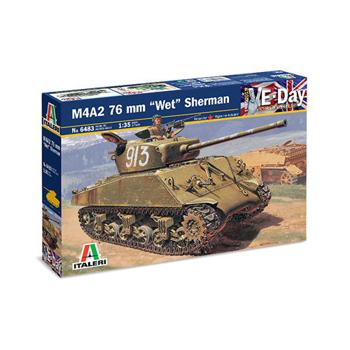 Italeri M4A2 76mm. ''WET'' SHERMAN 1:35 Kit
