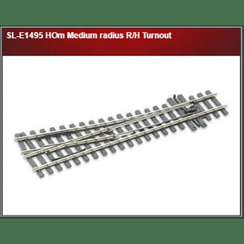 Peco SL-E1495 HOm Medium radius R/H Turnout
