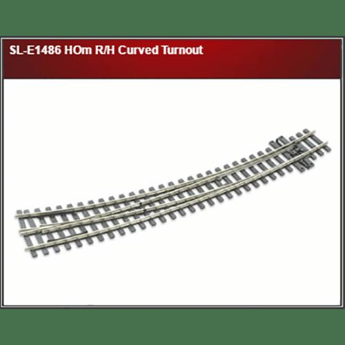 Peco SL-E1486 HOm R/H Curved Turnout